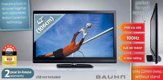 """42"""" (106cm) Full HD 100Hz LED TV"""