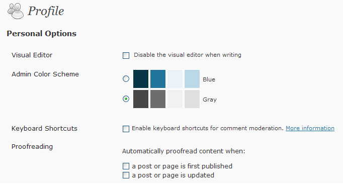 How to turn of Proof Reader in WP WordPress