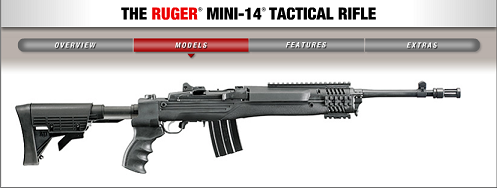 The Ruger Mini-14 Tactical rifle