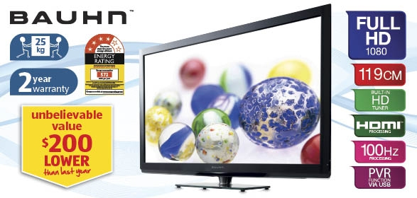 Bauhn 42i 119cm Full HD 100Hz LCD TV