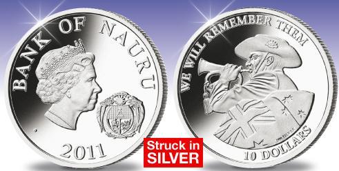 $10.00 Nauru Coin 2011