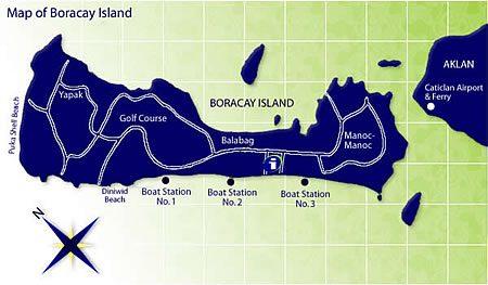 Boracay Island map
