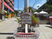 Lapu-Lapu City, Mactan Island after getting of the Ferry