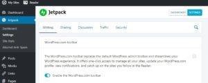 WordPress Admin Toolbar Replaced with Reader