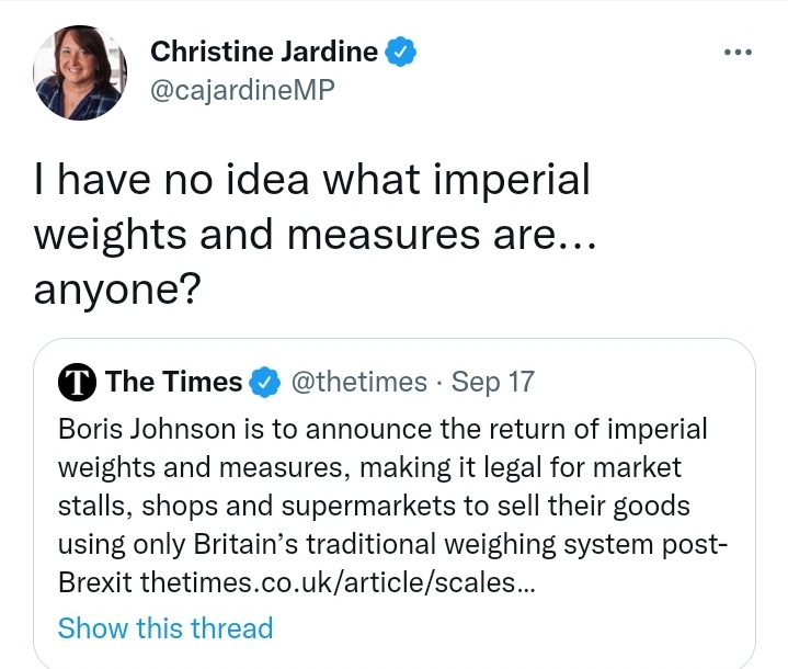 I have no idea what imperial weights and measures are
