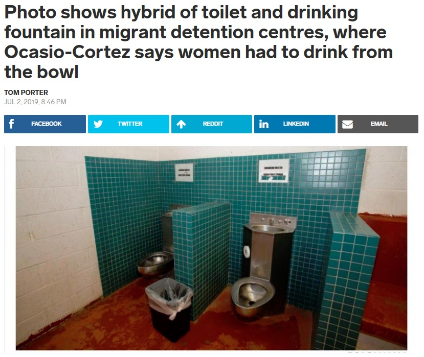 Drinking Water in Detention centre Toilets