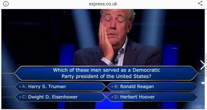 Jeremy Clarkson the Question he couldn't answer