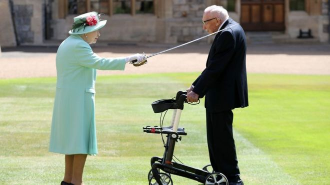 The Knighting of Sir Tom Moore